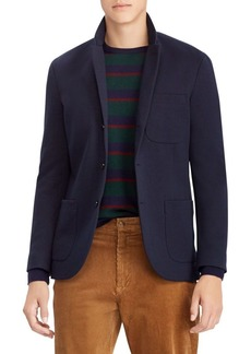 Ralph Lauren Polo Double-Breasted Knit Tech Blazer