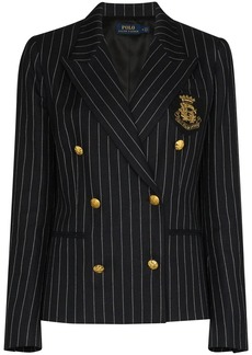 Ralph Lauren: Polo double-breasted pinstriped blazer