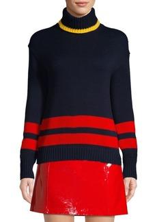 Ralph Lauren: Polo Double Stripe Knit Turtleneck Sweater