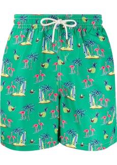 Ralph Lauren Polo drawstring printed swim shorts