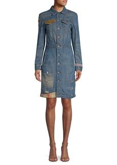 Ralph Lauren: Polo Embroidered Denim Shirtdress