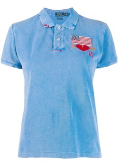 Ralph Lauren: Polo embroidered flag polo top
