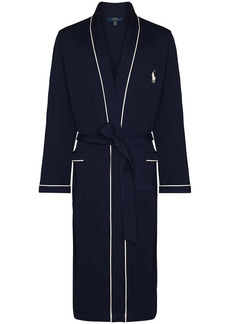 Ralph Lauren Polo embroidered logo belted robe