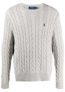 Ralph Lauren Polo embroidered logo cable-knit jumper