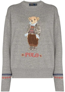Ralph Lauren: Polo embroidered teddy bear sweatshirt