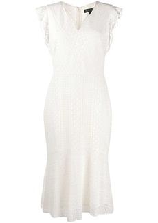 Ralph Lauren: Polo embroidered V-neck dress