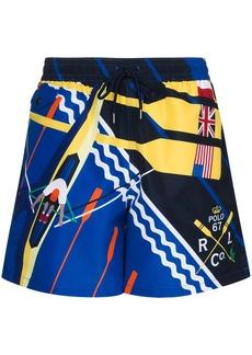 Ralph Lauren Polo Explorer rowing-print swim shorts