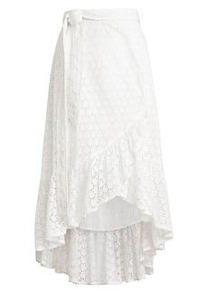 Ralph Lauren: Polo Eyelet Midi Wrap Skirt