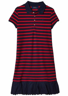 Ralph Lauren: Polo Eyelet Stretch Mesh Polo Dress (Little Kids/Big Kids)