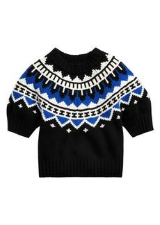 Ralph Lauren: Polo Fair Isle Puff Sleeve Sweater