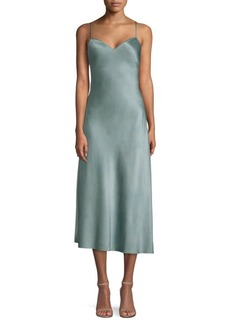 Ralph Lauren: Polo Fit-&-Flare Silk Slip Dress