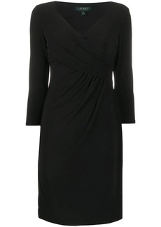 Ralph Lauren: Polo fitted wrap-style cocktail dress