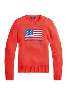 Ralph Lauren: Polo Flag Crewneck Knit Sweater