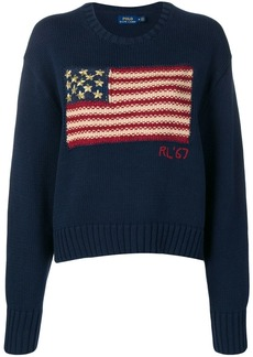 Ralph Lauren: Polo flag knit slouchy sweater