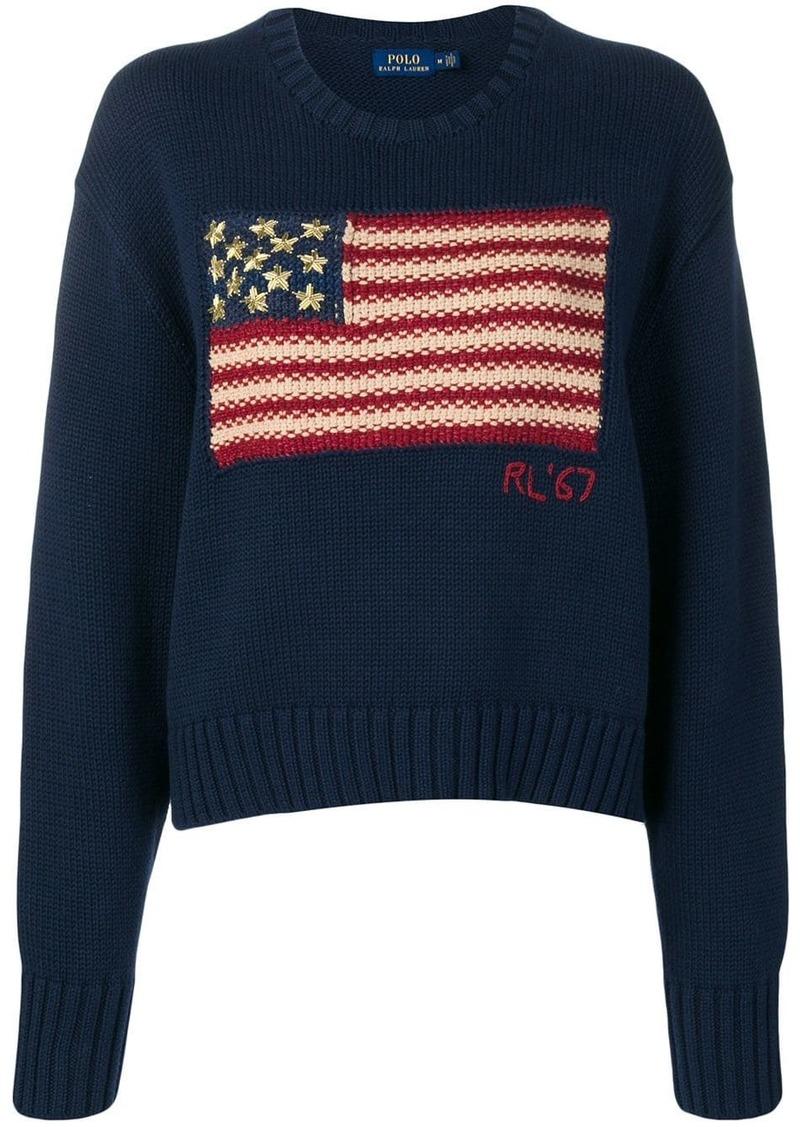 Ralph Lauren: Polo flag knit slouchy sweater