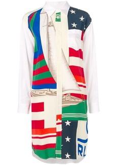 Ralph Lauren: Polo flag sailboat print shirt dress
