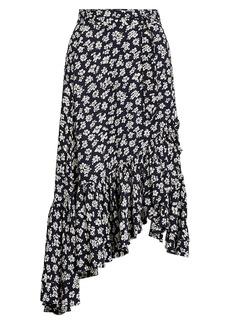 Ralph Lauren: Polo Floral Asymmetric Flounce Maxi Skirt