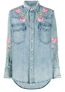 Ralph Lauren: Polo floral embroidered denim shirt