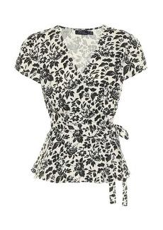 Ralph Lauren: Polo Floral linen wrap top