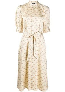 Ralph Lauren: Polo floral print satin tea dress