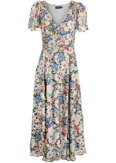 Ralph Lauren: Polo floral-print short-sleeved maxi dress