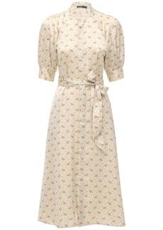 Ralph Lauren: Polo Floral Printed Satin Midi Dress