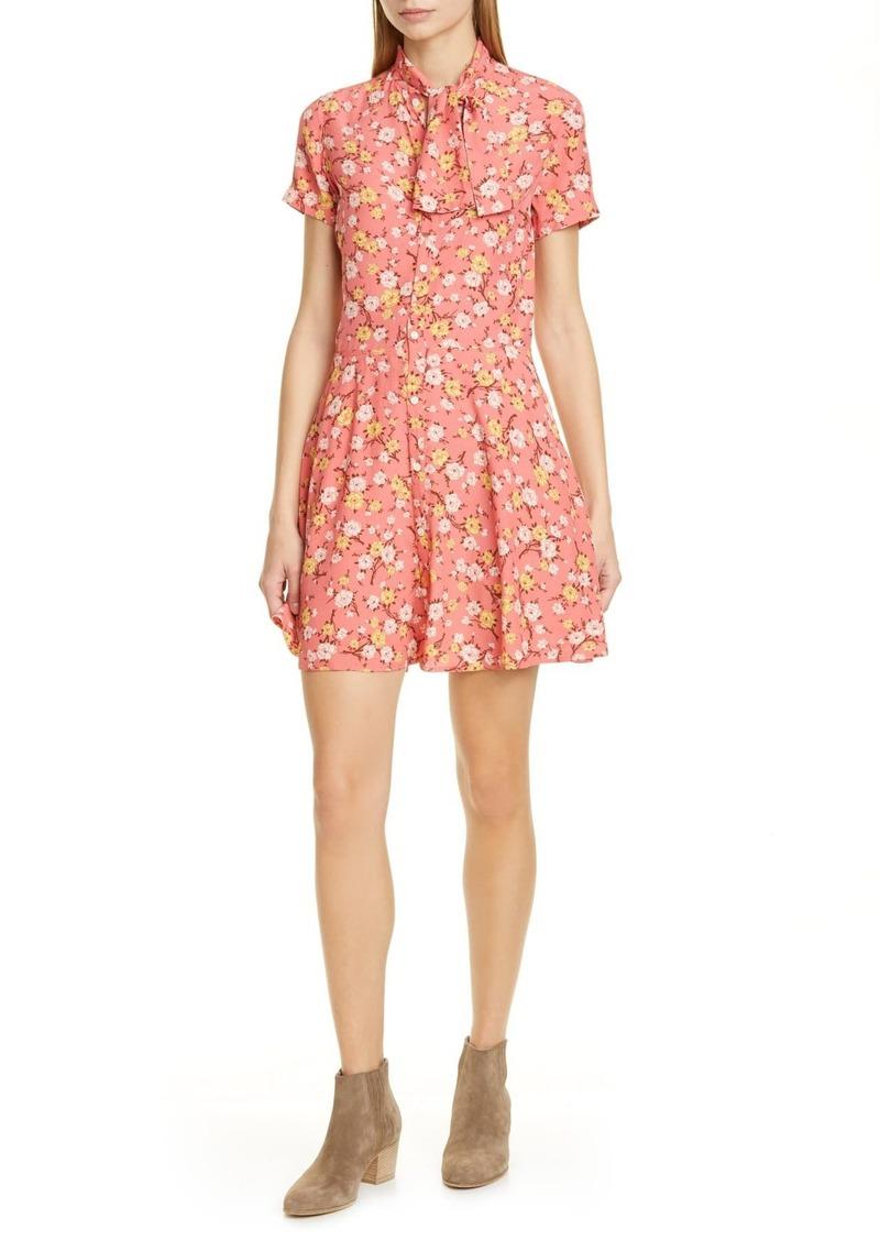 Ralph Lauren: Polo Floral Tie Neck Fit & Flare Dress