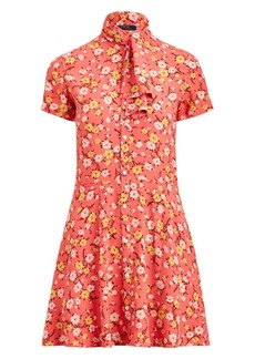 Ralph Lauren: Polo Floral Tieneck Short-Sleeve Shirtdress