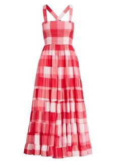Ralph Lauren: Polo Fye Gingham Maxi Dress