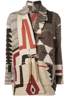 Ralph Lauren: Polo geometric shawl cardigan