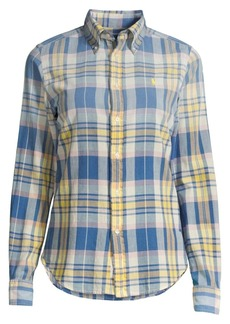 Ralph Lauren: Polo Georgia Madras Cotton Long-Sleeve Shirt