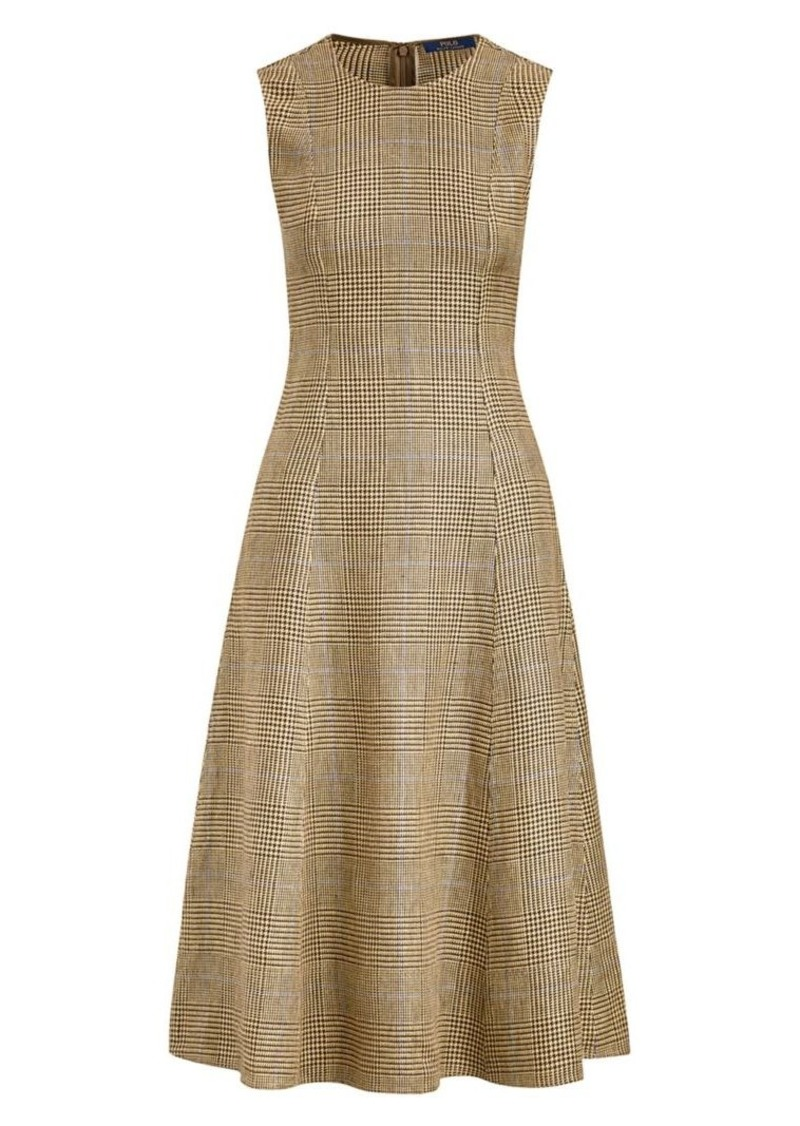 Ralph Lauren: Polo Glen Check Sleeveless Fit & Flare Dress