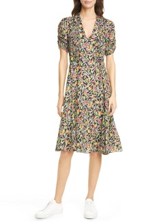 Ralph Lauren: Polo Grace Floral Short Sleeve Silk Blend Midi Dress