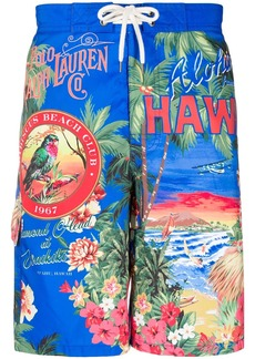 Ralph Lauren Polo Hawaii print swim shorts