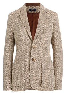 Ralph Lauren: Polo Herringbone Single-Breasted Blazer