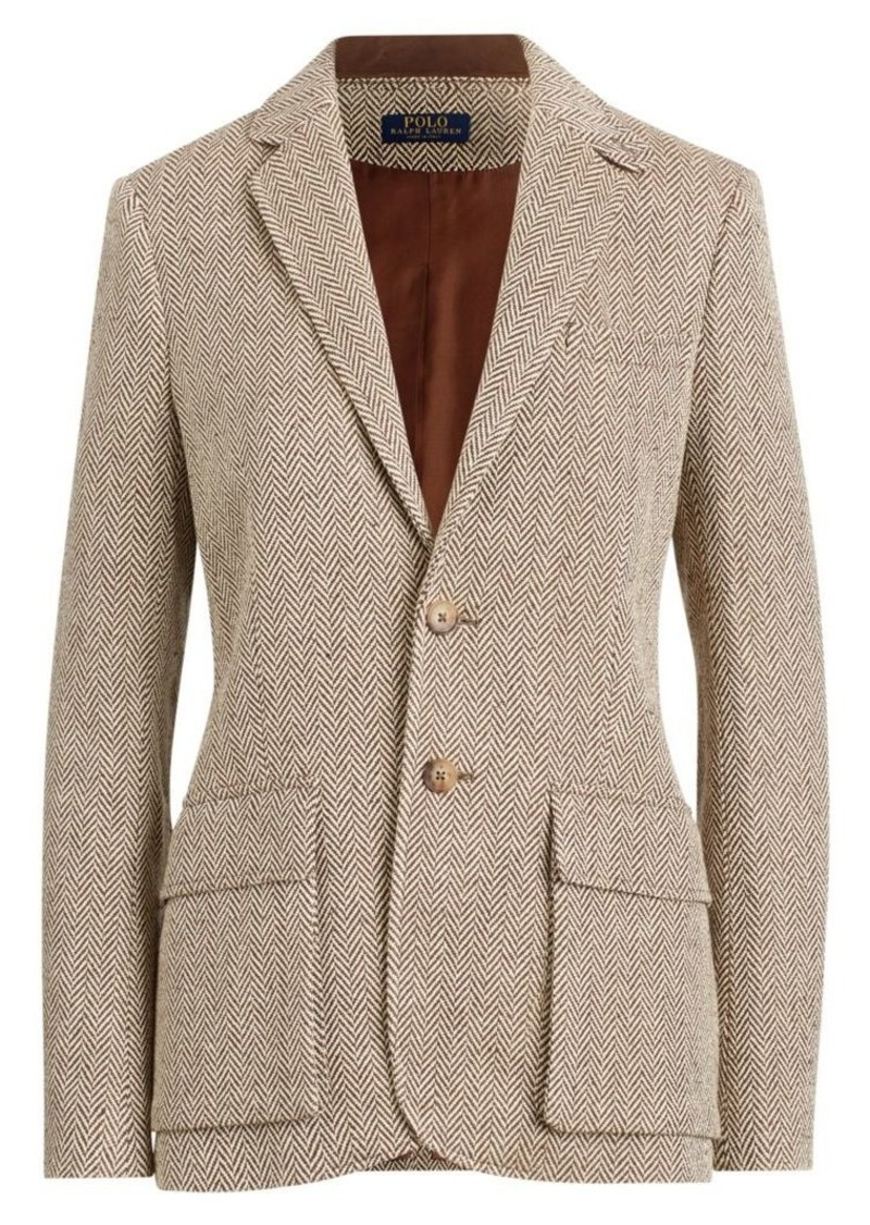 Ralph Lauren: Polo Herringbone Single-Breasted Blazer