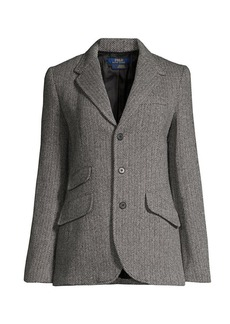 Ralph Lauren: Polo Herringbone Single Breasted Blazer