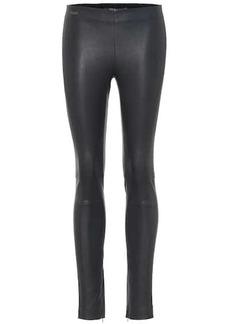 Ralph Lauren: Polo High-rise leather leggings