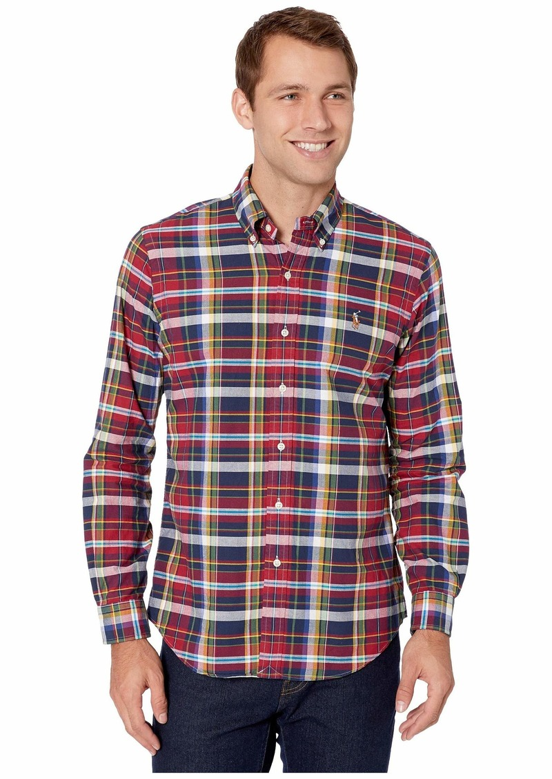 Ralph Lauren Polo Holiday Plaid Oxford Classic Fit Shirt