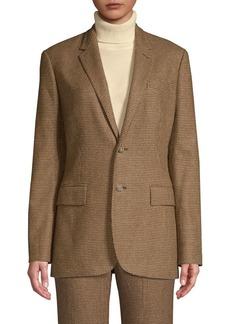 Ralph Lauren: Polo Houndstooth Wool-Blend Blazer