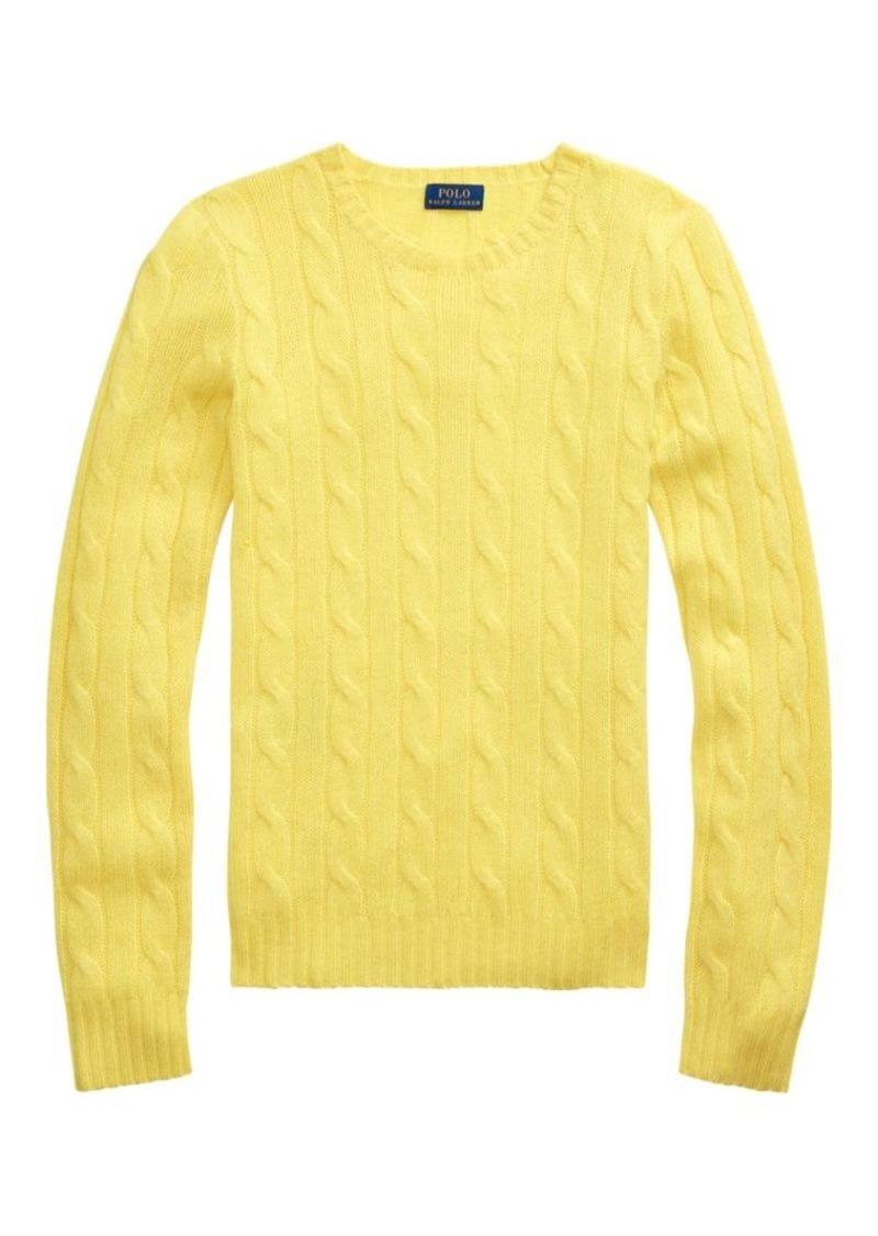 Ralph Lauren: Polo Julianna Cashmere Cable-Knit Sweater