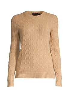 Ralph Lauren: Polo Julianna Slim-Fit Cashmere & Wool Cable Knit Sweater