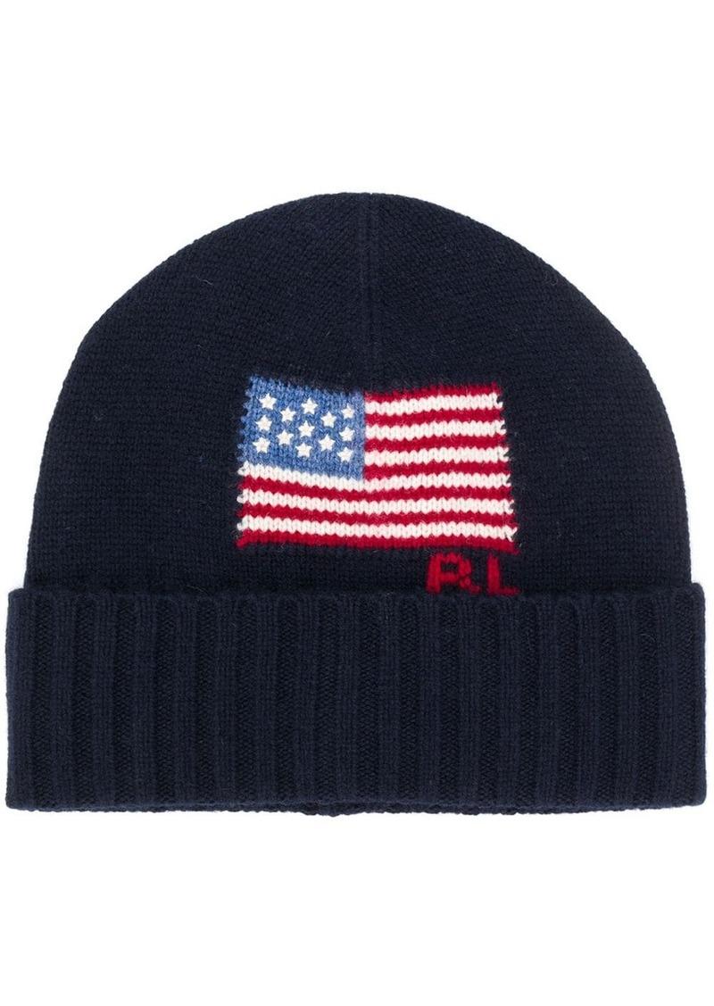 Ralph Lauren Polo knit flag beanie