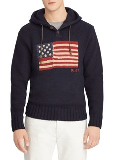 Ralph Lauren Polo Knit Wool Flag Hoodie
