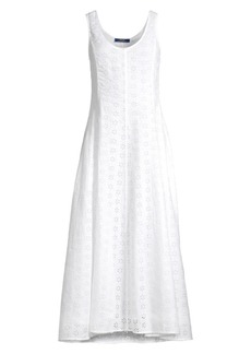 Ralph Lauren: Polo Lace Eyelet Linen A-Line Dress