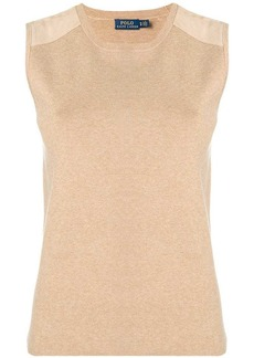 Ralph Lauren: Polo leather panel knit vest