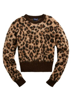 Ralph Lauren: Polo Leopard Print Wool-Blend Sweater