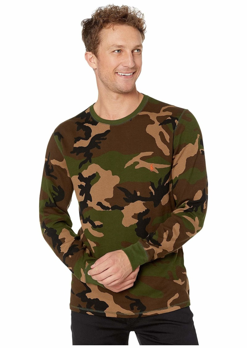 Ralph Lauren Polo Lightweight Waffle Printed Long Sleeve Crew