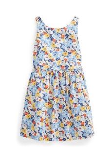Ralph Lauren: Polo Little Girls Floral Poplin Dress