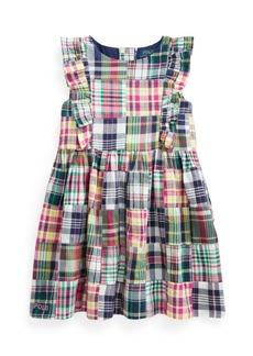 Ralph Lauren: Polo Little Girls Patchwork Madras Dress